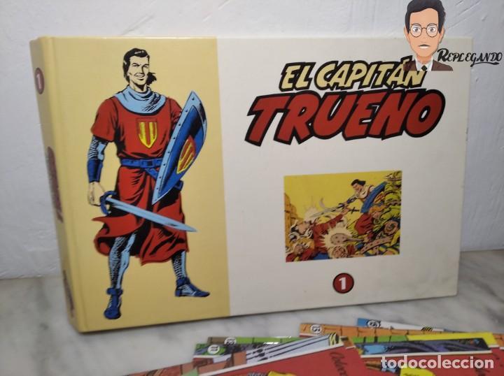 Tebeos: EL CAPITÁN TRUENO FACSÍMIL 32 NÚMEROS FACSÍMIL REEDICIÓN 1997 EL PERIÓDICO - Foto 2 - 261249320