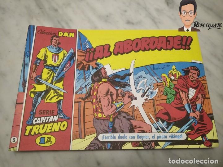 Tebeos: EL CAPITÁN TRUENO FACSÍMIL 32 NÚMEROS FACSÍMIL REEDICIÓN 1997 EL PERIÓDICO - Foto 7 - 261249320
