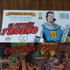 Tebeos: EL CAPITÁN TRUENO - FACSÍMILES 91, 92, 93, 94, 95 Y 96 (ENTREGA 16). Lote 269042588