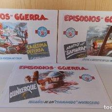 Tebeos: EPISODIOS DE GUERRA - COLECCIÓN COMPLETA 1 AL 3 - EL BOLETIN - NUEVOS IMPECABLES. Lote 277234008