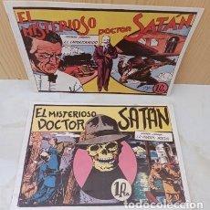 Tebeos: EL MISTERIOSO DOCTOR SATAN - PRIMERA Y SEGUNDA JORNADA 1 Y 2 - REEDICION - EXCELENTE ESTADO.. Lote 289738073