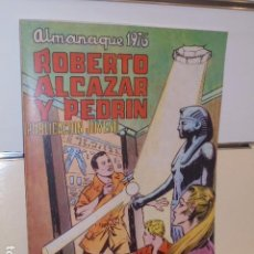 Giornalini: ALMANAQUE ROBERTO ALCAZAR Y PEDRIN AÑO 1976 REEDICION - 32 PAGINAS A COLOR.. Lote 293803288