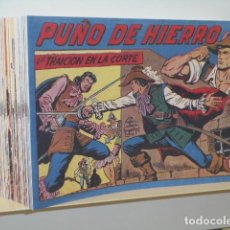 Tebeos: PUÑO DE HIERRO COMPLETA 35 NUM. + ALMANAQUE AÑO 1958 - REEDICION. Lote 293810443