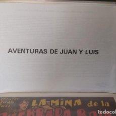 Tebeos: * AVENTURAS DE JUAN Y LUIS * COMPLETA 11 NUM * HISPANO AMERICANA 1942 * REEDICION *. Lote 295842823