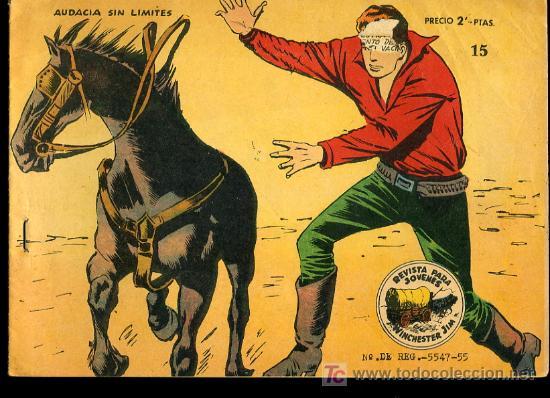WINCHESTER JIM Nº15- AUDACIA SIN LIMITES,EXCLUSIVAS GRAFICAS RICART,BARCELONA (Tebeos y Comics - Ricart - Otros)