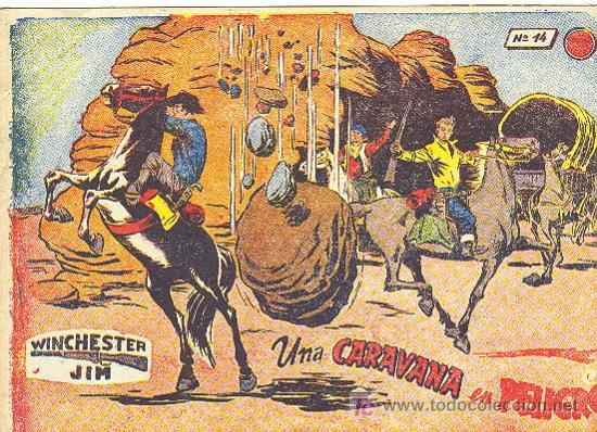 WINCHESTER JIM 2 PTS. RICART Nº 14 CON VIÑETAS ATRAS (Tebeos y Comics - Ricart - Otros)