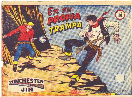 WINCHESTER JIM RICART Nº 19 CON VIÑETAS ATRAS (Tebeos y Comics - Ricart - Otros)