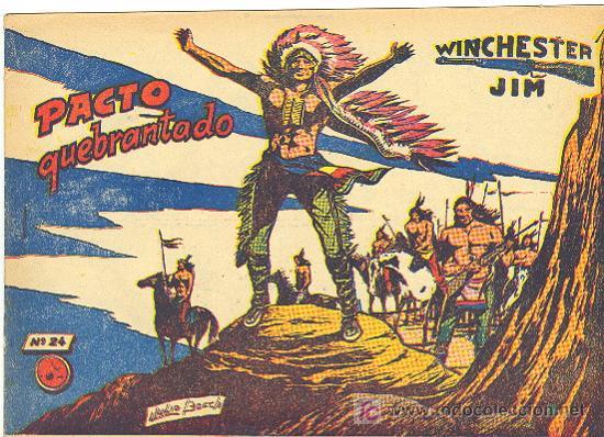 WINCHESTER JIM RICART Nº 24 CON VIÑETAS ATRAS (Tebeos y Comics - Ricart - Otros)