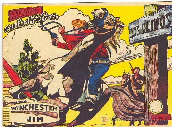 WINCHESTER JIM RICART Nº 32 CON VIÑETAS ATRAS (Tebeos y Comics - Ricart - Otros)