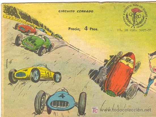 AVENTURAS DEPORTIVAS 4 PTAS. (RICART) CIRCUITO CERRADO (Tebeos y Comics - Ricart - Aventuras Deportivas)