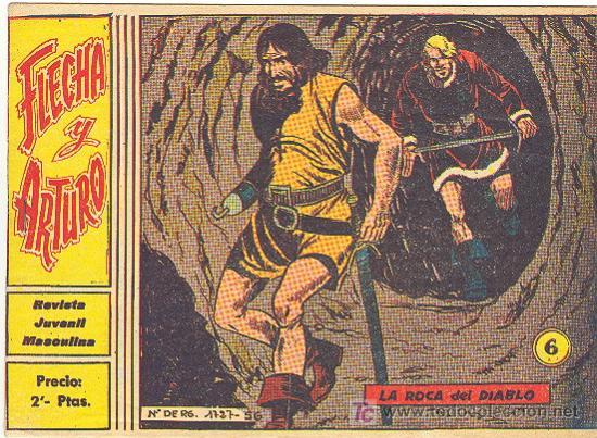 FLECHA Y ARTURO Nº 6 ORIGINAL (Tebeos y Comics - Ricart - Flecha y Arturo)