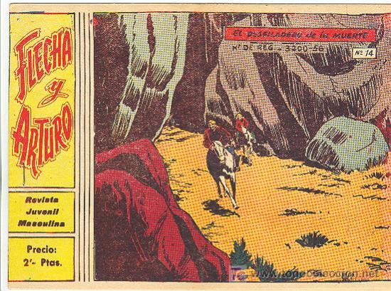 FLECHA Y ARTURO Nº 14 ORIGINAL (Tebeos y Comics - Ricart - Flecha y Arturo)