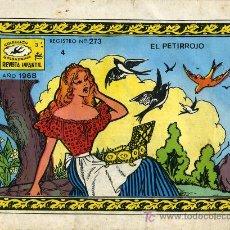 Tebeos: EL PETIRROJO - REVISTA INFANTIL - COLECCIÓN GOLONDRINA Nº 4 - 1968. CUENTO AÑOS 60 VINTAGE. Lote 27174971