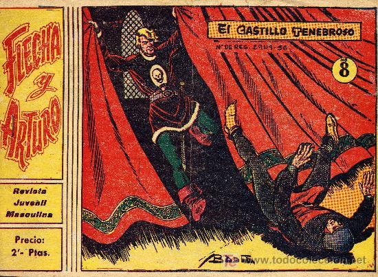 FLECHA Y ARTURO Nº 8 (GRÁFICAS RICART) . DIBUJOS DE BADIA (Tebeos y Comics - Ricart - Flecha y Arturo)