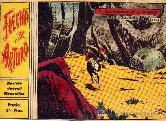 FLECHA Y ARTURO Nº 14 (GRÁFICAS RICART) . DIBUJOS DE BADIA (Tebeos y Comics - Ricart - Flecha y Arturo)