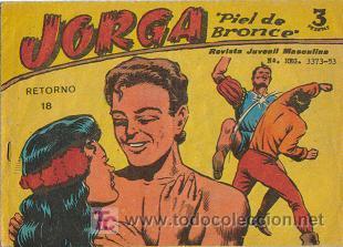 JORGA PIEL DE BRONCE (RICART) ORIGINAL 1963 - 1965 LOTE (Tebeos y Comics - Ricart - Jorga)