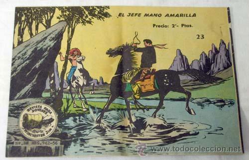 WINCHESTER JIM Nº 23 EL JEFE MANO AMARILLA ED GRÁFICAS RICART 1956 (Tebeos y Comics - Ricart - Otros)