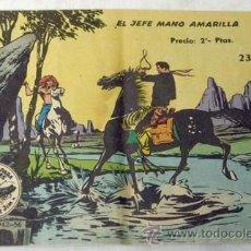 Tebeos: WINCHESTER JIM Nº 23 EL JEFE MANO AMARILLA ED GRÁFICAS RICART 1956. Lote 9972957