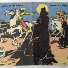Tebeos: TEBEO WINCHESTER JIM Nº21 LA GRAN HAZAÑA DE DAVE ED GRÁFICAS RICART 1956. Lote 9972983