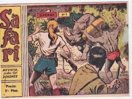 SAFARI.RICART.2 PTAS. Nº 1. SIN ABRIR. (Tebeos y Comics - Ricart - Safari)