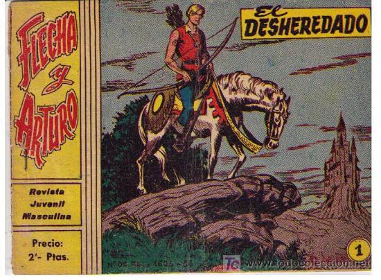 FLECHA Y ARTURO. Nº 1: EL DESHEREDADO. RICART. (Tebeos y Comics - Ricart - Flecha y Arturo)