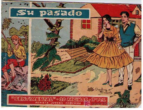 SENTIMENTAL. RICART 1958. SIN NÚMERO. 20 PÁGINAS. 'SU PASADO'. (Tebeos y Comics - Ricart - Sentimental)