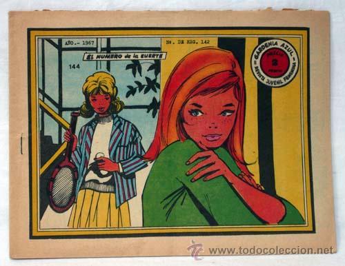GARDENIA AZUL Nº 144 EL NÚMERO DE LA SUERTE ED GRÁFICAS RICART 1967 (Tebeos y Comics - Ricart - Otros)