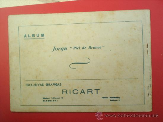 Tebeos: JORGA -PIEL DE BRONCE-TOMO III-RICART- albun 1954 - Foto 2 - 24991349