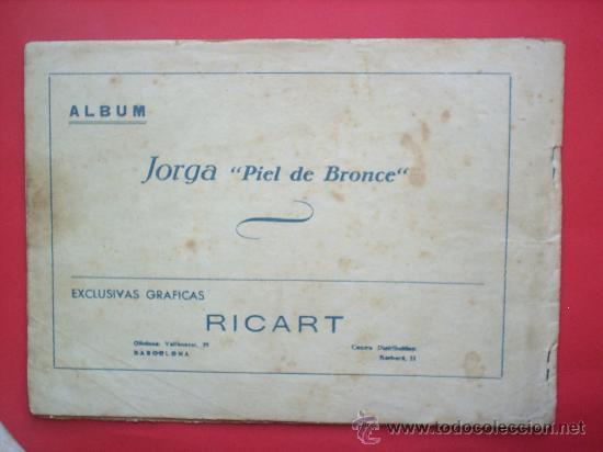 Tebeos: JORGA -PIEL DE BRONCE -TOMO I-RICART-PRIMER ALBUN 1954-. - Foto 2 - 27209566