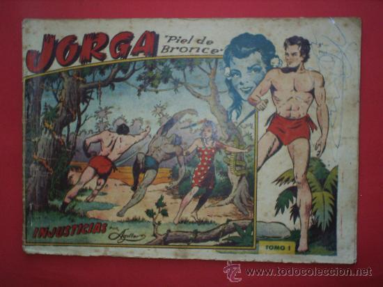 Tebeos: JORGA -PIEL DE BRONCE -TOMO I-RICART-PRIMER ALBUN 1954-. - Foto 3 - 27209566