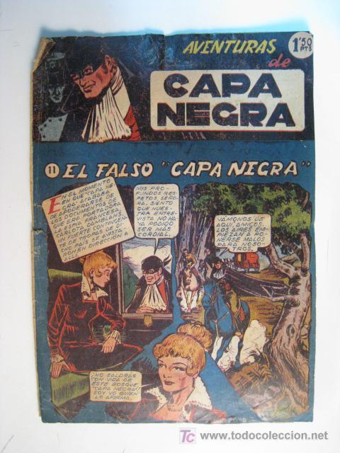 COMIC ORIGINAL AVENTURAS CAPA NEGRA Nº 11 (RICART) (Tebeos y Comics - Ricart - Otros)