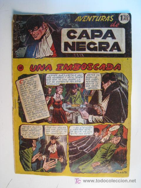COMIC ORIGINAL AVENTURAS CAPA NEGRA Nº 10 (RICART) (Tebeos y Comics - Ricart - Otros)