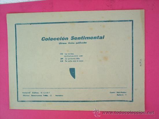 Tebeos: COLECCION SENTIMENTAL,N. 210 - ,GRAFICAS RICART- COMO NUEVO - Foto 2 - 15008193