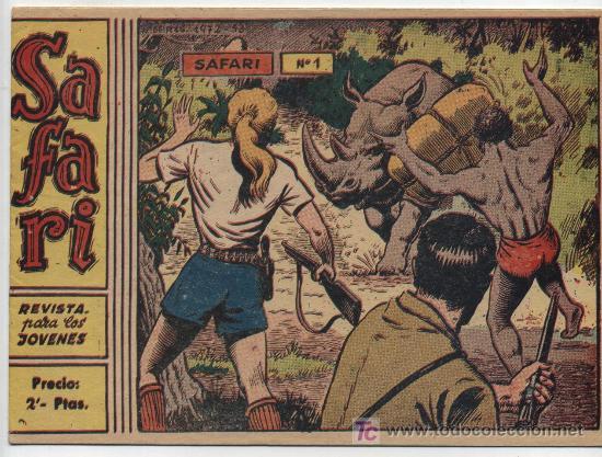 SAFARI 2ª Nº 1. (2 PTAS) RICART 1963. SIN ABRIR ¡IMPECABLE! (Tebeos y Comics - Ricart - Safari)