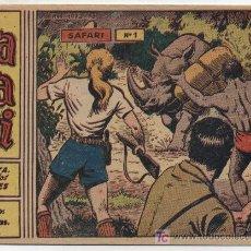 Tebeos: SAFARI 2ª Nº 1. (2 PTAS) RICART 1963. SIN ABRIR ¡IMPECABLE!. Lote 26057346