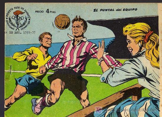 AVENTURAS DEPORTIVAS - EL PUNTAL DEL EQUIPO - GRAFICAS RICART 1963 - ORIGINAL, NO FACSIMIL (Tebeos y Comics - Ricart - Aventuras Deportivas)