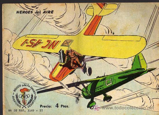 AVENTURAS DEPORTIVAS - HEROES DEL AIRE - GRAFICAS RICART 1963 - ORIGINAL, NO FACSIMIL (Tebeos y Comics - Ricart - Aventuras Deportivas)