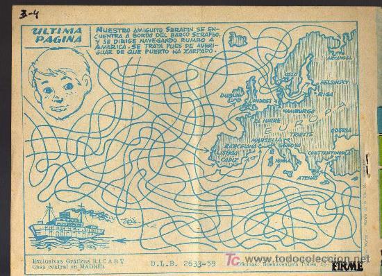 Tebeos: AVENTURAS DEPORTIVAS - EL PUNTAL DEL EQUIPO - GRAFICAS RICART 1963 - ORIGINAL, NO FACSIMIL - Foto 2 - 16003228