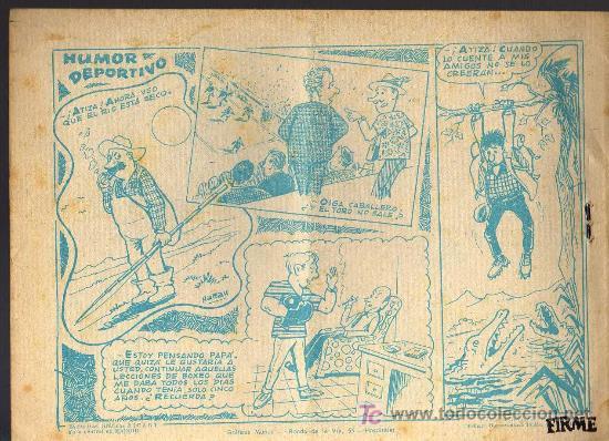 Tebeos: AVENTURAS DEPORTIVAS - HEROES DEL AIRE - GRAFICAS RICART 1963 - ORIGINAL, NO FACSIMIL - Foto 2 - 16003349