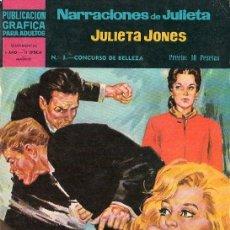 Tebeos: PUBLICACION GRAFICA PARA ADULTOS. NARRACIONES DE JULIETA. Nº 3. SENTIMENTAL... Lote 17351859