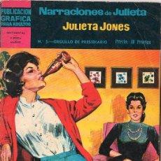 Tebeos: PUBLICACION GRAFICA PARA ADULTOS. NARRACIONES DE JULIETA. Nº 5. SENTIMENTAL... Lote 17351877