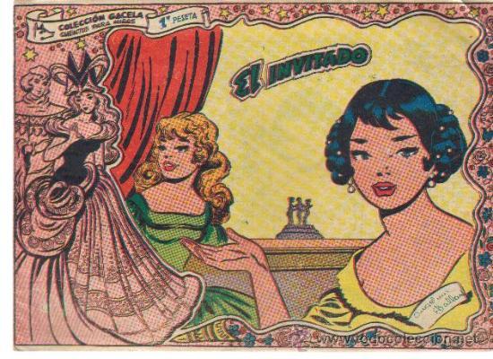 COLECCION GACELA,CUENTOS PARA NIÑAS Nº 110 EL INVITADO-ED.RICART 1959 (Tebeos y Comics - Ricart - Gacela)