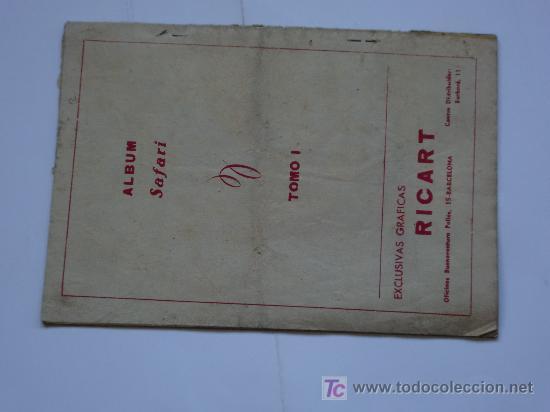 Tebeos: SAFARI RICART 1954 ALBUM Nº 1 ORIGINAL - Foto 3 - 25780832