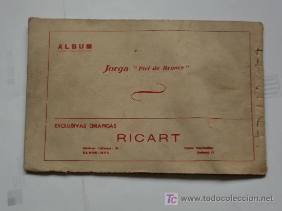 Tebeos: JORGA ALBUM TOMO IV RICART 1954 ORIGINAL - Foto 2 - 27273812