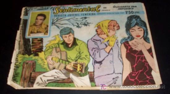 SENTIMENTAL - REVISTA JUVENIL FEMENINA - Nº 22 -1959 (Tebeos y Comics - Ricart - Sentimental)