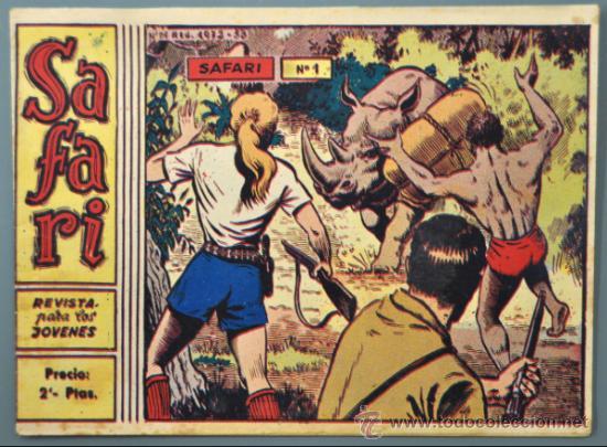Nº 1 - SAFARI- EDICIONES RICART. (Tebeos y Comics - Ricart - Safari)