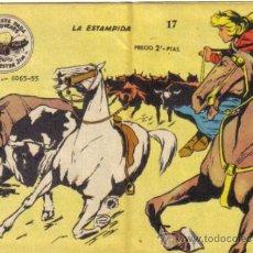Giornalini: WINCHESTER JIM, LA ESTAMPIDA. Nº 17. 2 PTS. CON VIÑETAS EN TAPA TRASERA.. Lote 33982950