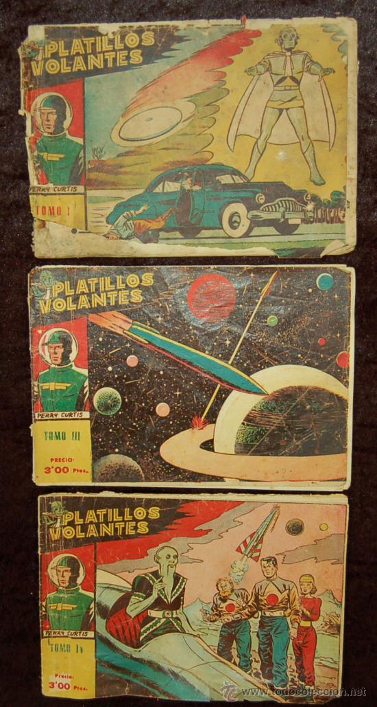 LOTE DE 3 PLATILLOS VOLANTES TOMOS I, III, IV (Tebeos y Comics - Ricart - Otros)