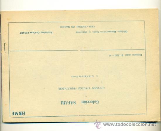 Tebeos: SAFARI Nº 6 - ORIGINAL RICART 2 PTS. - Foto 2 - 35845718