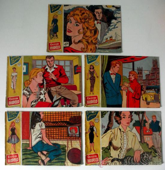 LOTE DE 5 COMICS HACIA TIEMPO QUE LO QUERIA * ELEGANCIAS OPUESTAS * EL AYUDA DE CAMARA * AÑOS 50 (Tebeos y Comics - Ricart - Modelo)